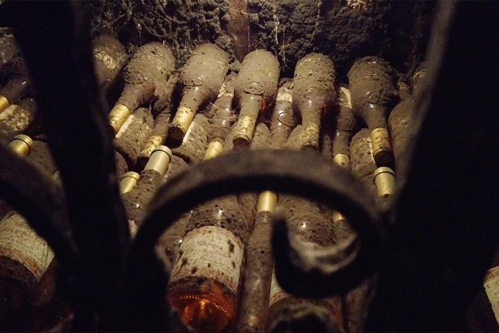 Кажется, что эти заплесневелые бутылки пролежали здесь лет триста. Насамом деле плесенью все покрывается меньшечем загод. Это особенность токайских погребов