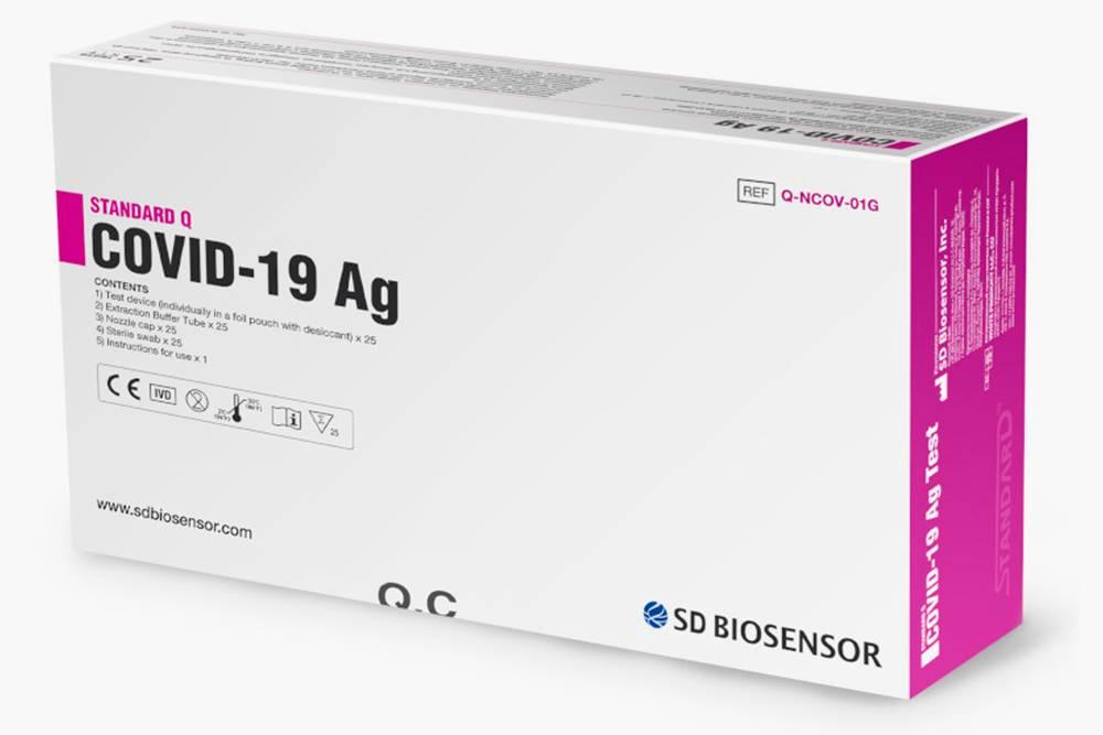 Вот как выглядят некоторые популярные тесты на антиген. Это Biosensor (Корея). Источник: SDBiosensor