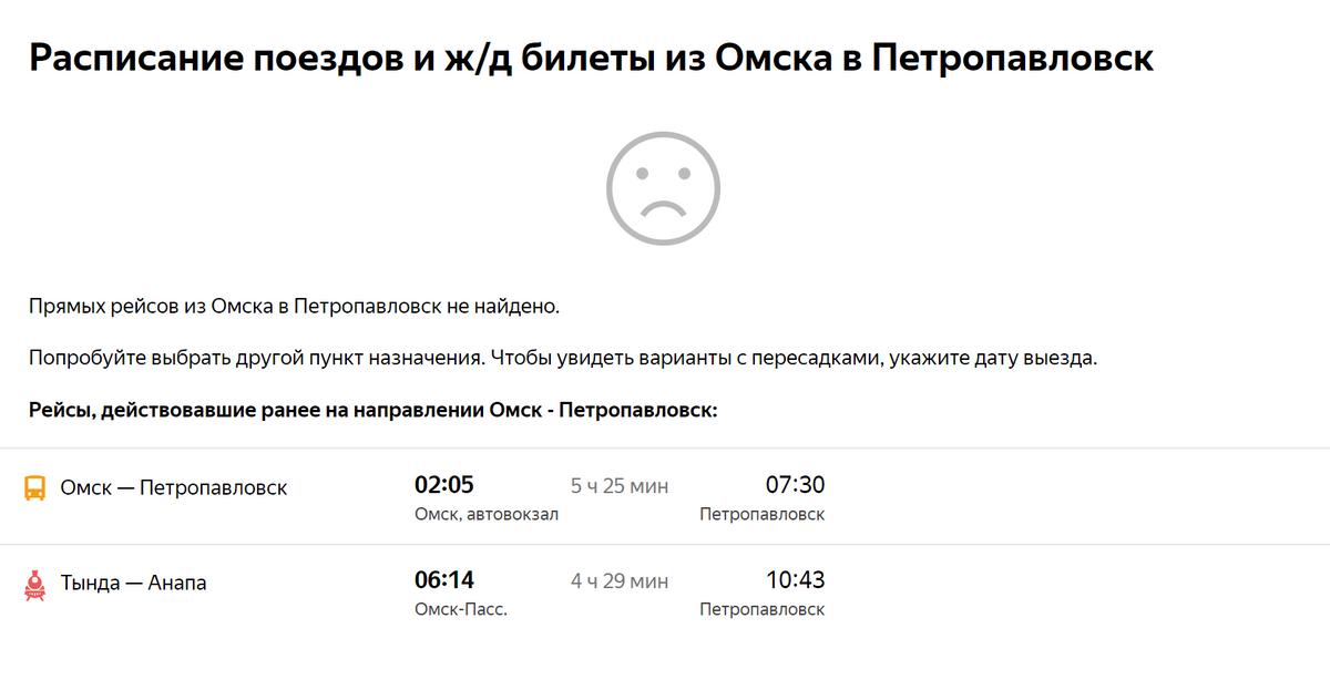 Петропавловск — ближайший кОмску крупный казахстанский город. Туда ходили ипоезда, иавтобусы. Сейчас их тоже отменили. Источник: «Яндекс-расписания»