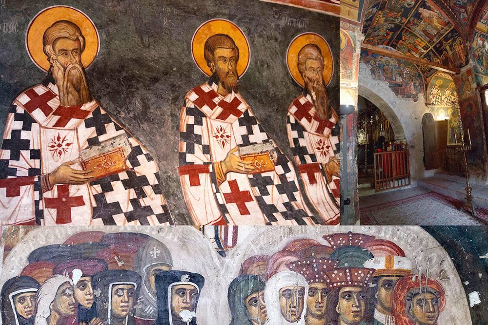 Фрагменты внутренней росписи церкви в Калопанайотисе