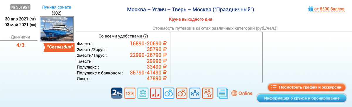 А на майских праздниках в 2021&nbsp;году этот&nbsp;же маршрут стоит дороже на 2000—3000<span class=ruble>Р</span>