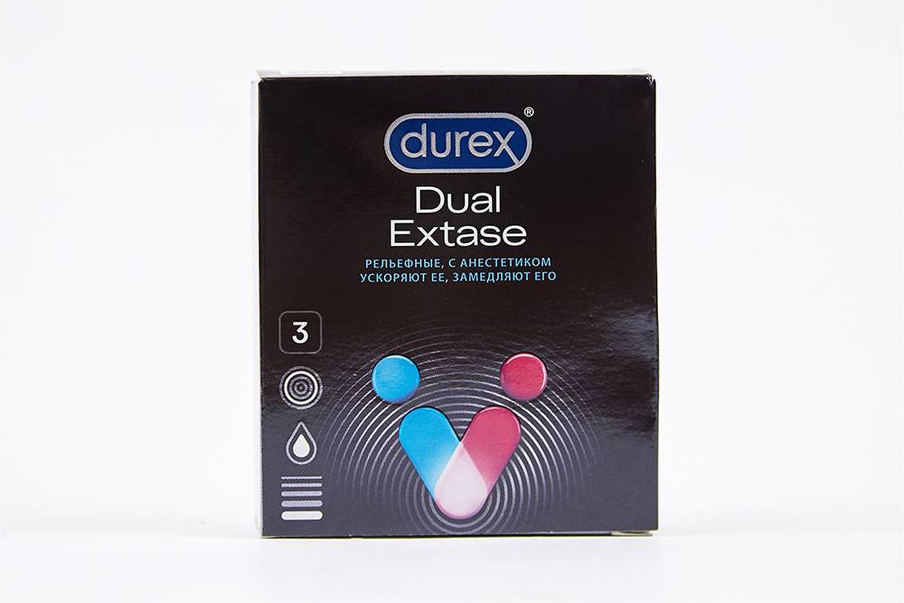 О том, что анестетики содержатся в смазке презерватива, указано на упаковке спереди