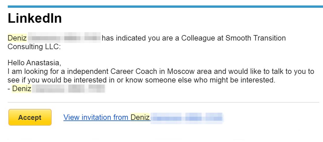 А это письмо от Дэниз — моей будущей начальницы в REA. Все общение идет на английском, так что стоит подучить язык, если плохо его знаете