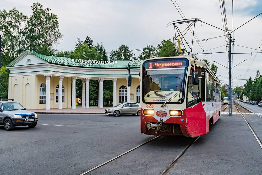 Трамваи, наоборот, по старым и небольшим улицам