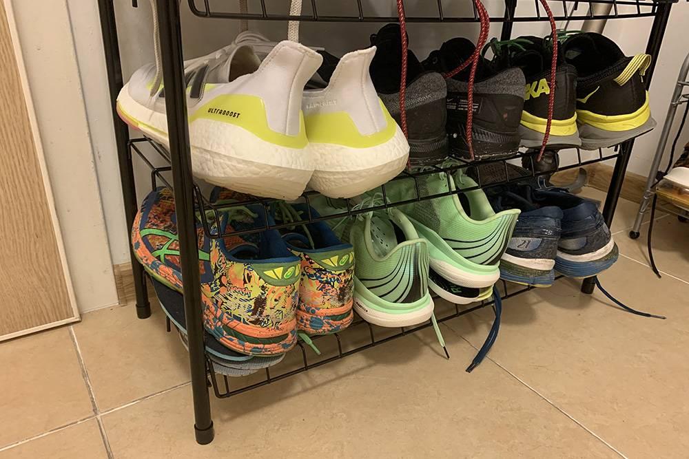 Мои кроссовки дляразных беговых тренировок