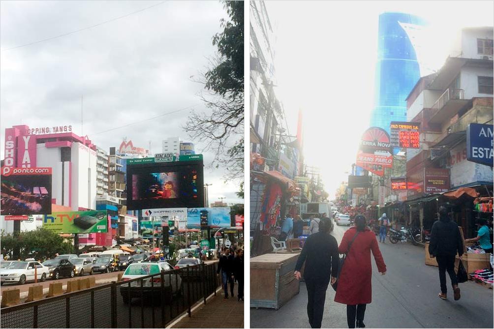 Парагвайский город Сьюдад-дель-Эсте награнице сБразилией похож набольшой магазин илирынок подоткрытым небом