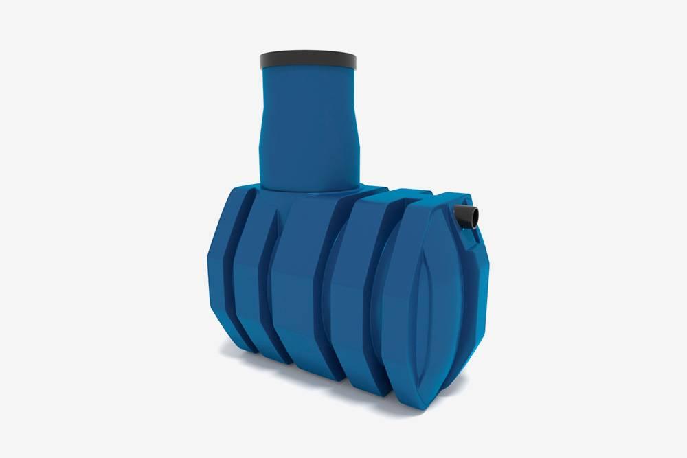 Пример простейшего септика-накопителя — герметичная пластиковая емкость с горловиной. Источник: Биофор