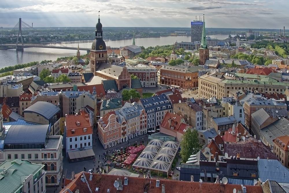 Вид на Старый город и реку Даугаву — так по-латышски называется Западная Двина. Источник:Makalu/ Pixabay