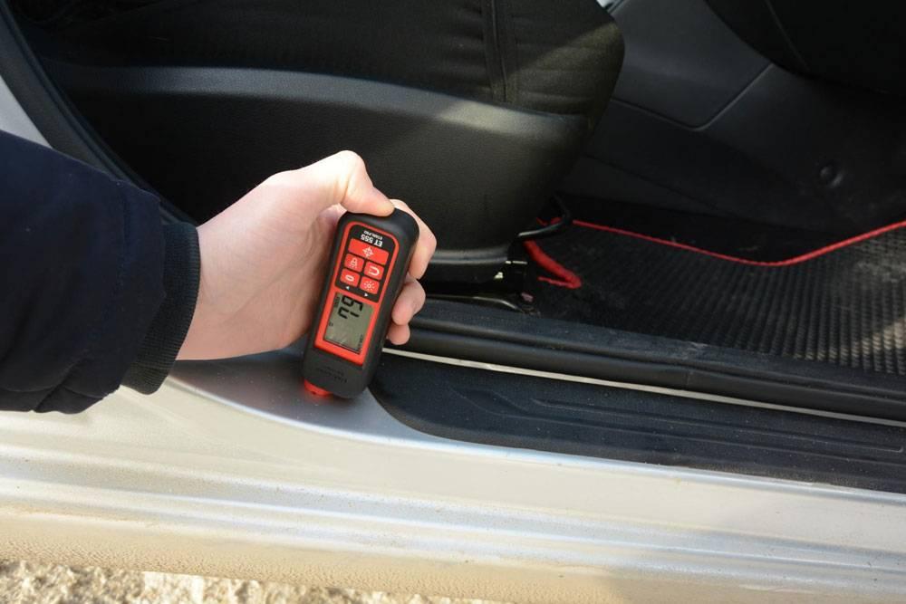 Показания толщиномера на внутренних элементах кузова не должны превышать 100 мкм