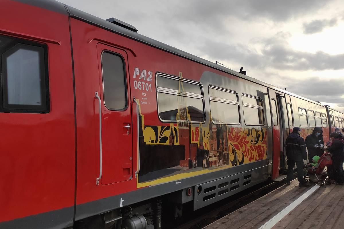 Дизель-поезд выглядит красиво. Ехать в нем комфортно