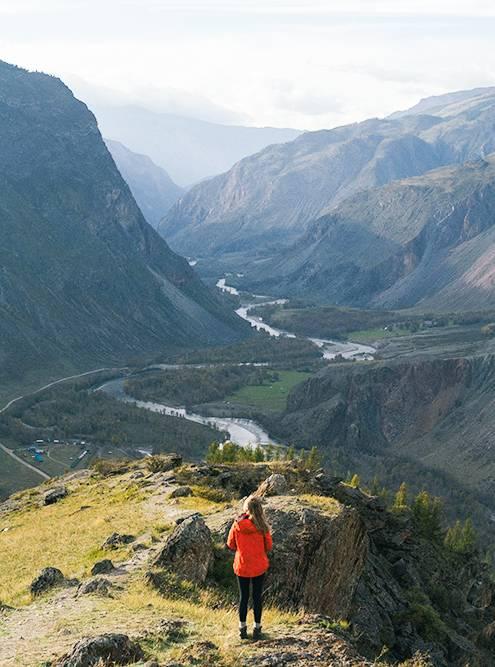 Река Чулышман уходит вдаль