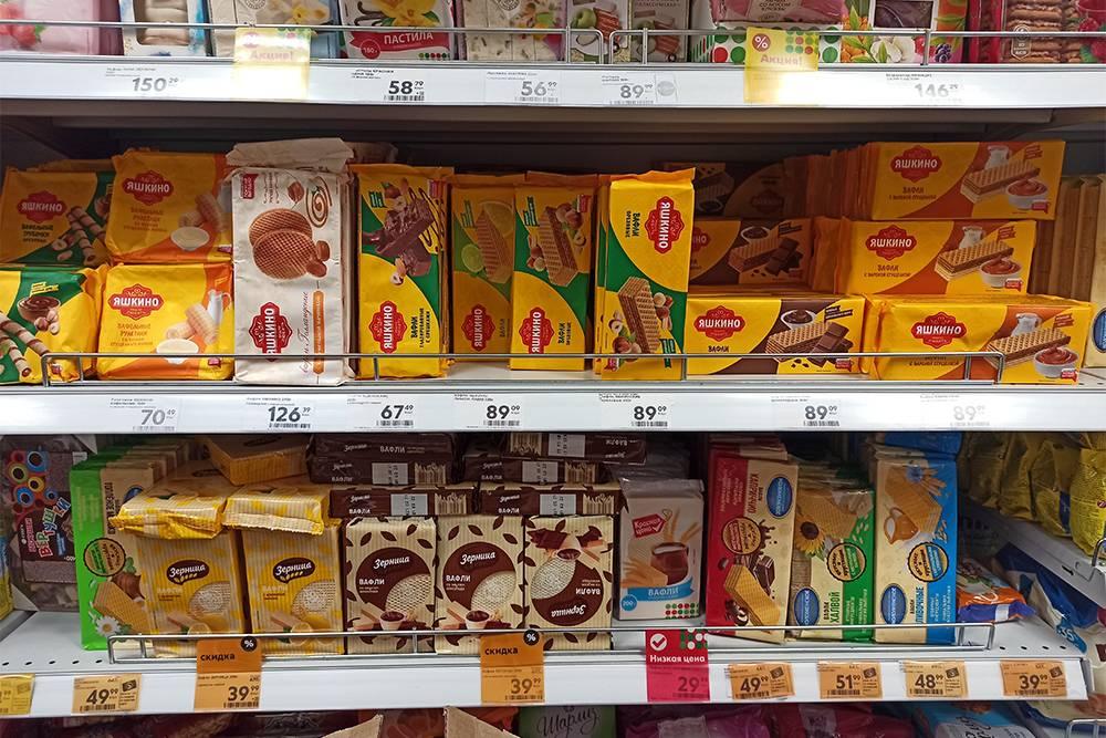 Цены на сладости в «Пятерочке»