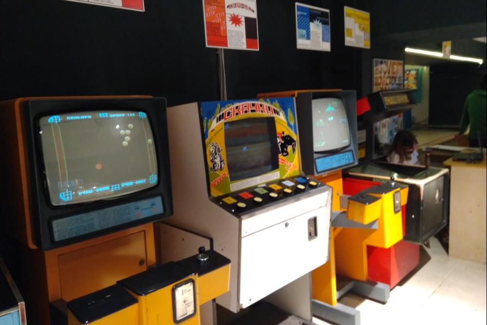 В музее есть около 40 видов игровых автоматов