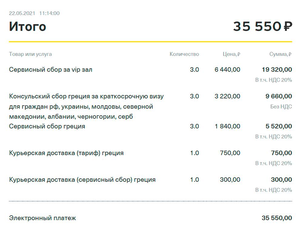 В итоге три взрослых паспорта и один детский вышли в 35 550<span class=ruble>Р</span>, оплатила картой сразу в визовом центре. То, что суммы визового и сервисного сборов немного отличаются от указанных на сайте, я заметила только во время работы над&nbsp;ответом