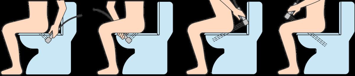 Гигиенический душ позволяет подмываться сразу на унитазе, отдельное биде приэтом не нужно
