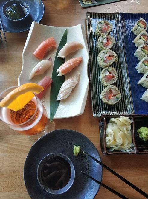 Часть нашего заказа в японском ресторане