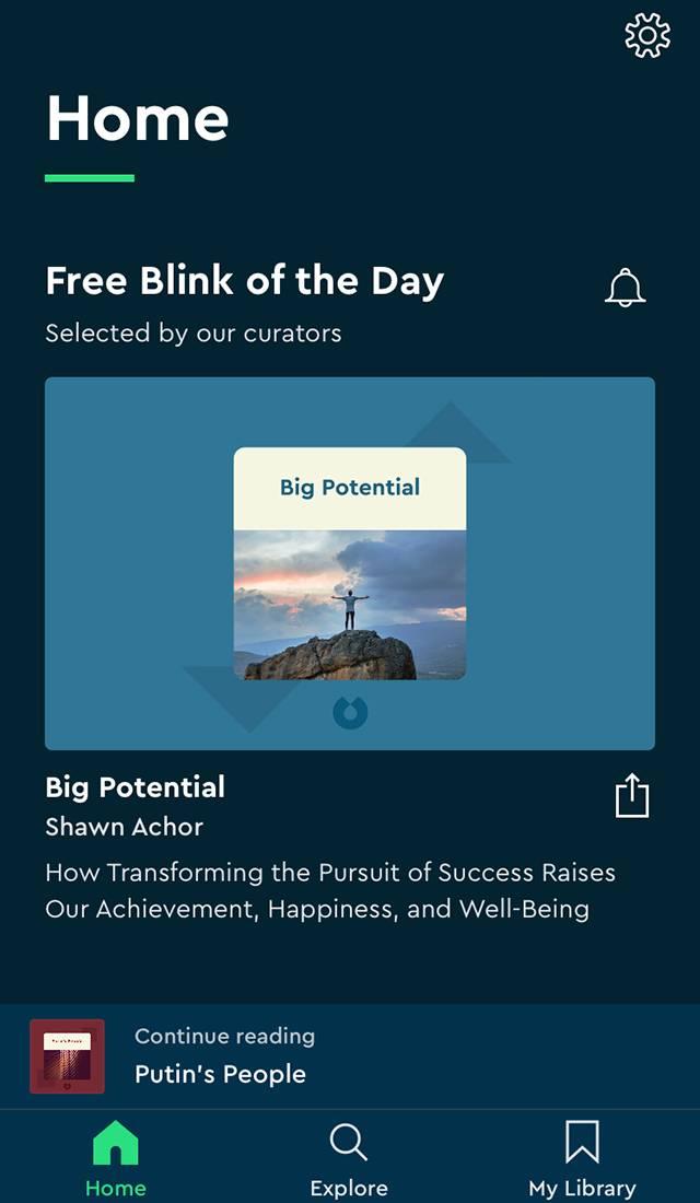 В Blinkist каждый день можно бесплатно послушать ипрочитать краткое содержание какой-то книги