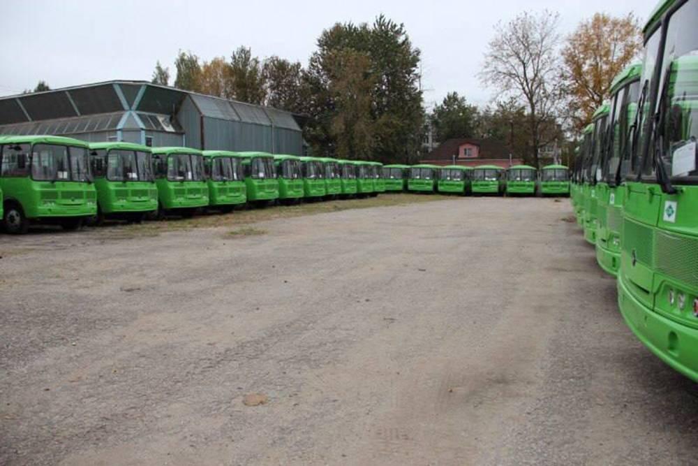 Новенькие автобусы, которые закупили длягорода