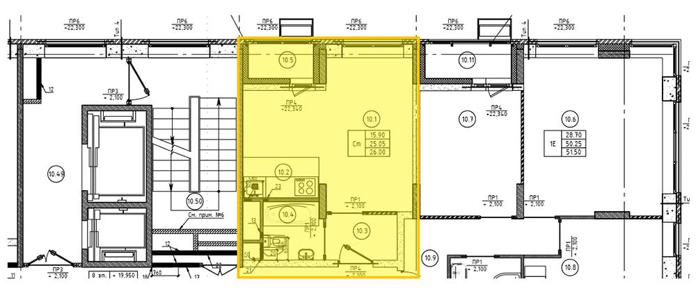 План квартиры из технической документации