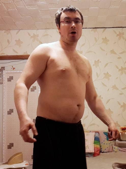 Я до занятий боксом и диеты