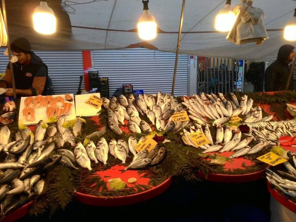 Мясо на рынке не продают, а вот свежей турецкой рыбы всегда много