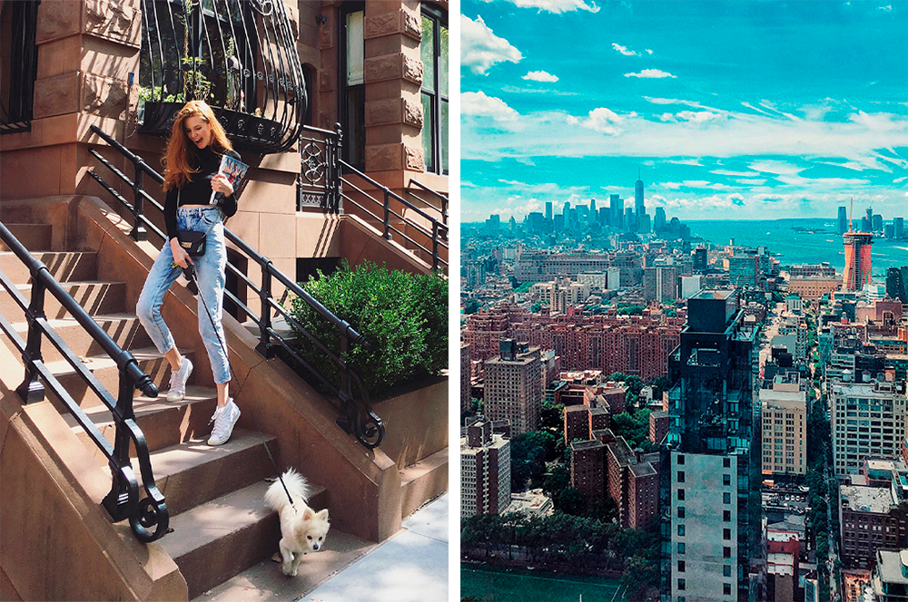 В Нью-Йорке Ирина работает моделью и удаленно — редактором