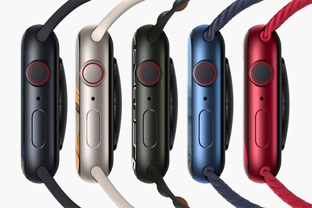 Все расцветки алюминиевых Apple Watch Series7