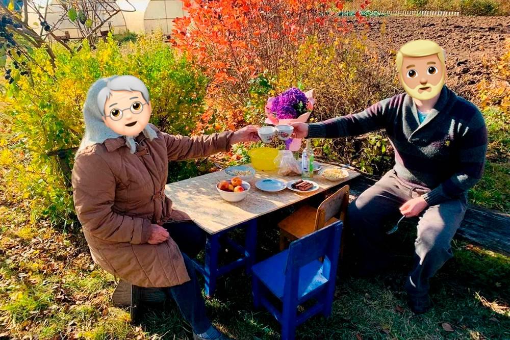 Очень хорошо посидели с бабушкой