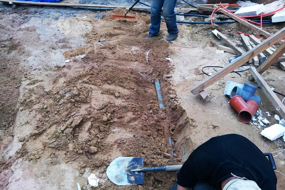 Контур заземления, закопанный вгрунт