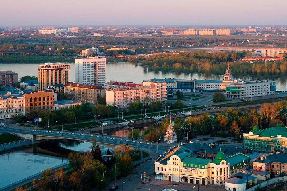 Утренний Омск. Панорама с воздуха. Фото: Shutterstock
