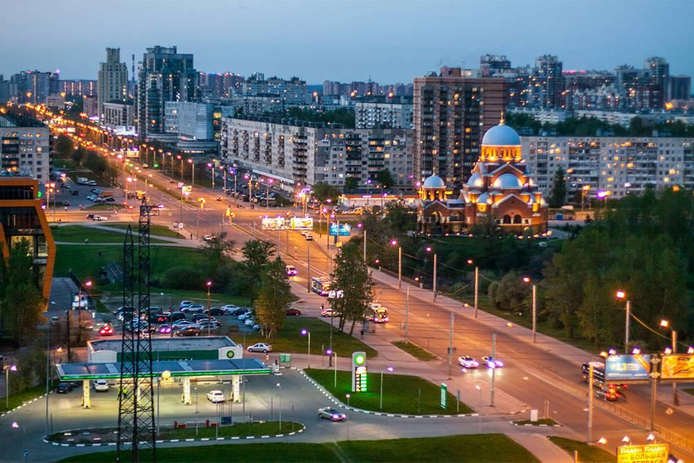 Микрорайон Гражданка — пересечение Гражданского проспекта и проспекта Луначарского. Источник: «Пикабу»
