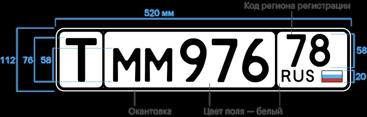 Знак типа 19. Транзитный регистрационный знак длятранспорта, который окончательно выезжает за пределы России