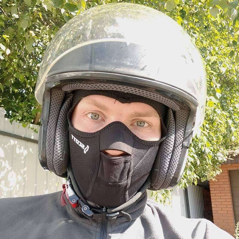 Это мой самый удачный подшлемник Scott Wind Warrior Hood Facemask. Ветер не задувает лицо и горло