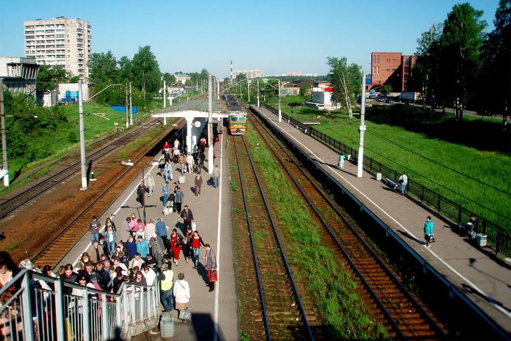 Ж/д станция Пискаревка. Источник: mapio.net
