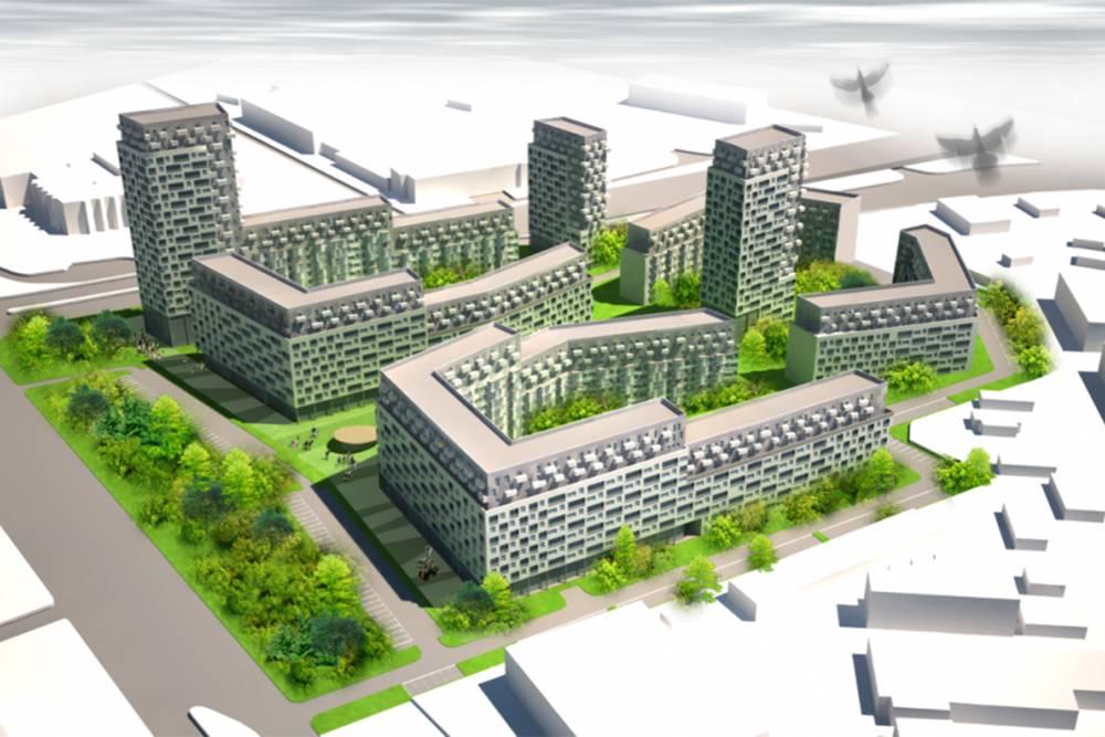 Вместо них построят такие дома. Источник: городская программа «Развитие застроенных территорий Санкт-Петербурга»
