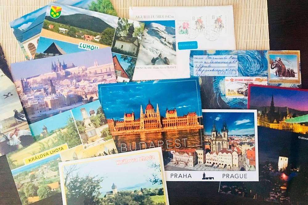 Это открытки, которые мне прислал в подарок фермер из чешской деревушки