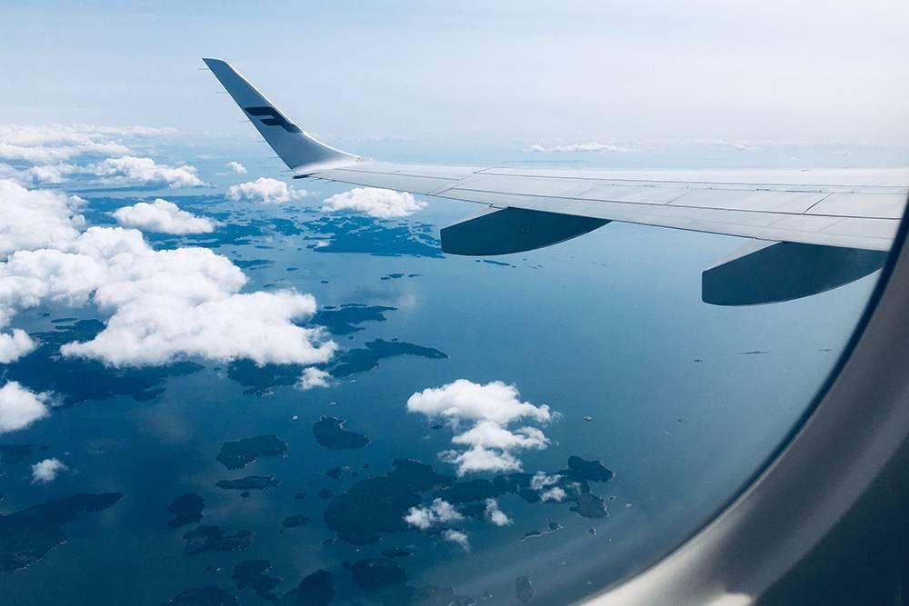 Этот кадр я сделал, когда вылетал из Хельсинки. Внизу — острова в Балтийском море у берегов Финляндии
