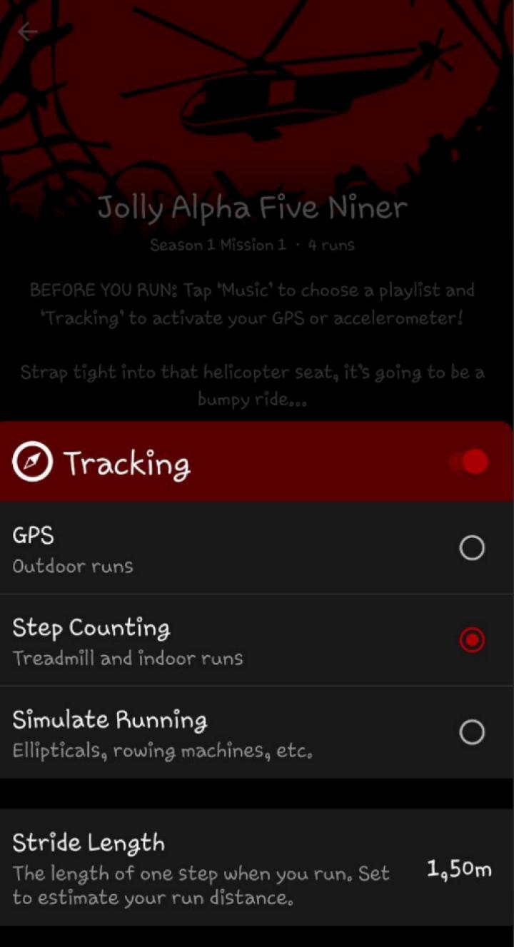 Для отслеживания шагов можно использовать GPS или внутренние функции смартфона. Еще есть режим для эллиптических тренажеров