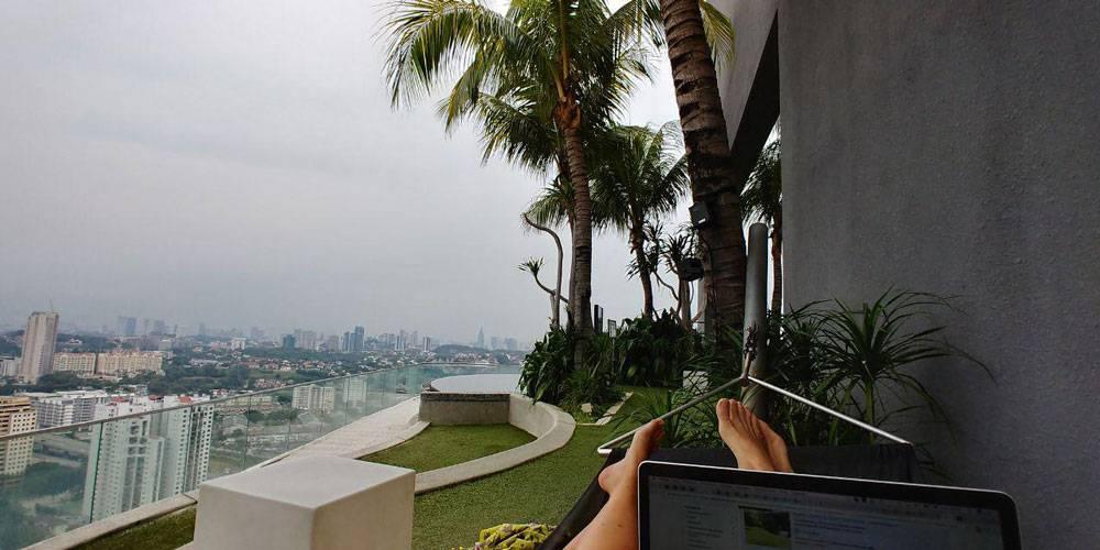 Вид на Куала-Лумпур с нашей террасы