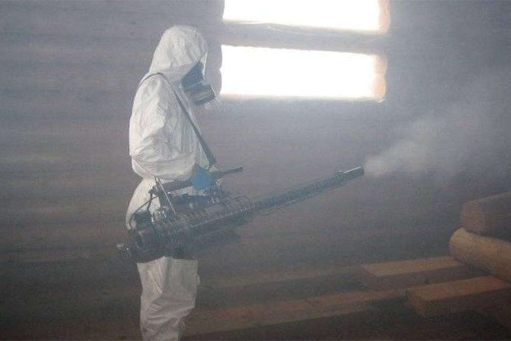 Обработка дома из установки горячего тумана. Источник: «Стоп-клопу»