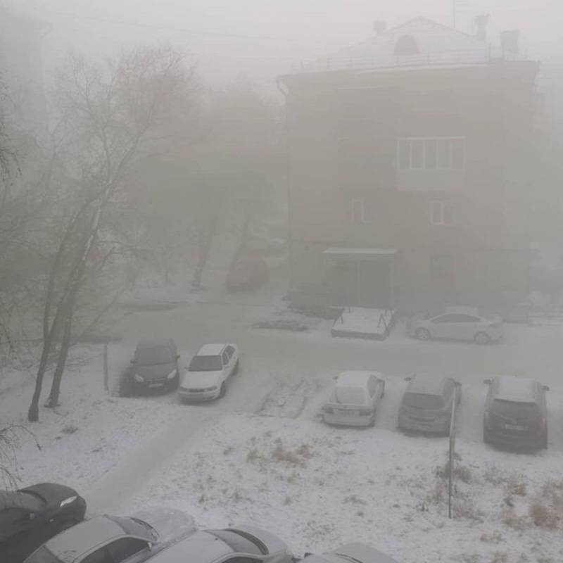 В таком «тумане» мы живем с середины ноября. Его прозвали «балабановским» — в честь горе-журналистки, которая сказала Путину, что все хорошо