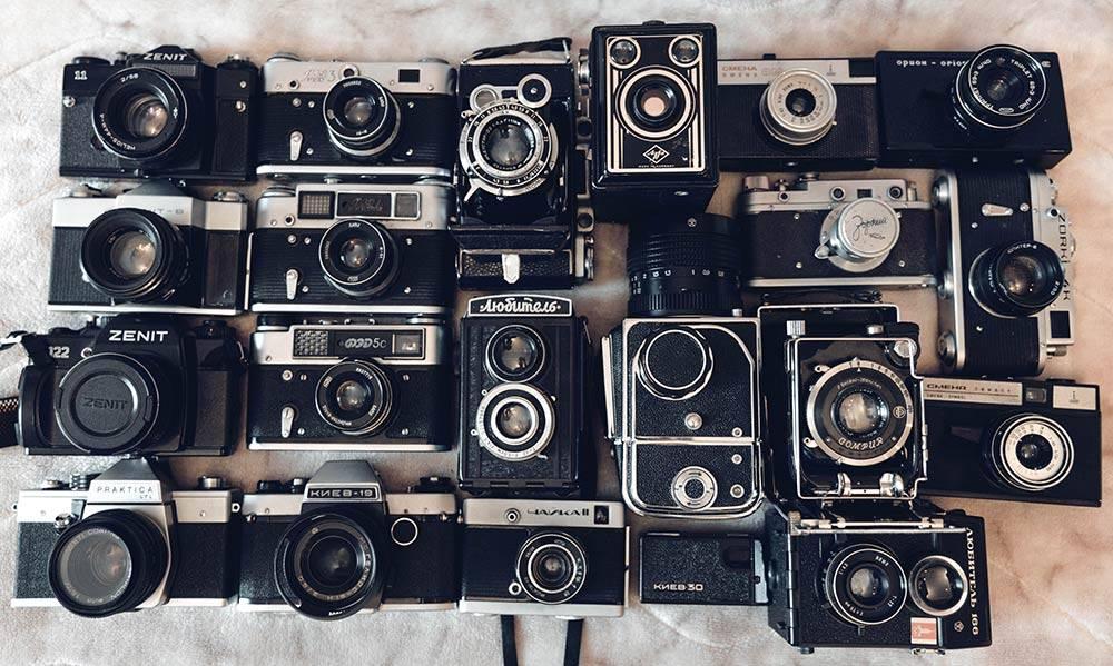 Моя коллекция пленочных фотоаппаратов неполным составом