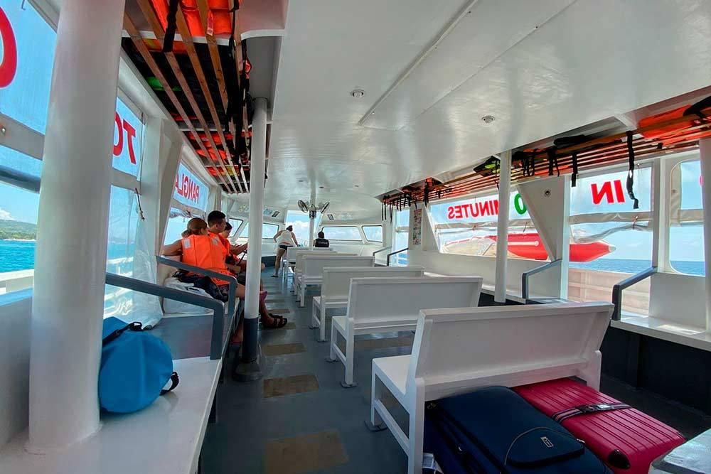 Лодка на остров Бохоль