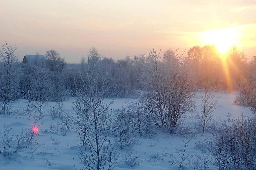 Зима за городом. Трасса Междуреченск — Новокузнецк