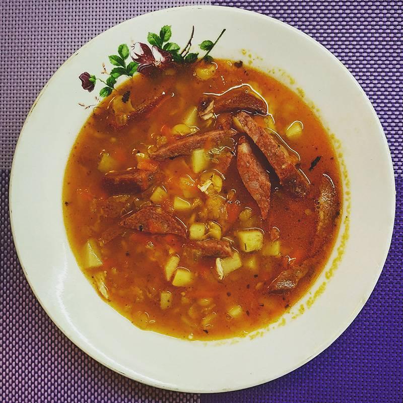 Сварила гороховый суп