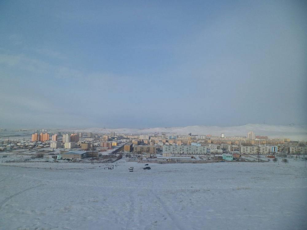 Вид на Дархан. На фото — главный район города и центр