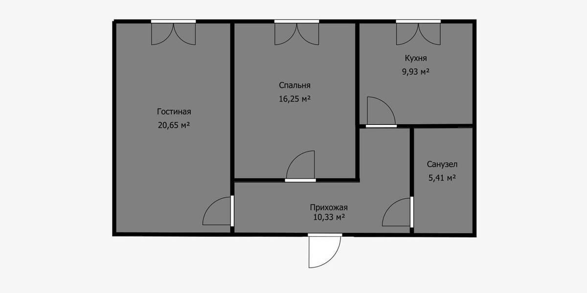 Кухню в нише можно расположить даже в коридоре