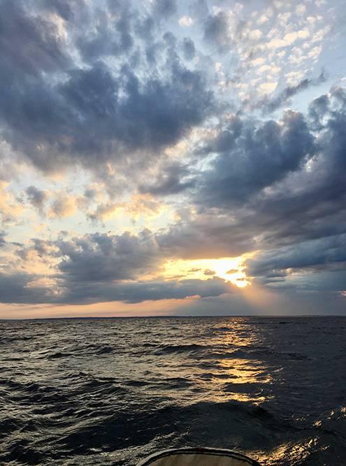 Когда идешь на яхте, нужно быть готовым к холоду, ветру и волнам
