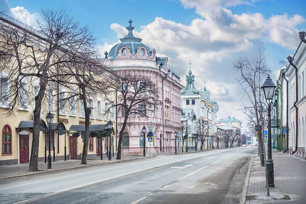 Улицу назвали Кремлевской, потому что она ведет к казанскому Кремлю