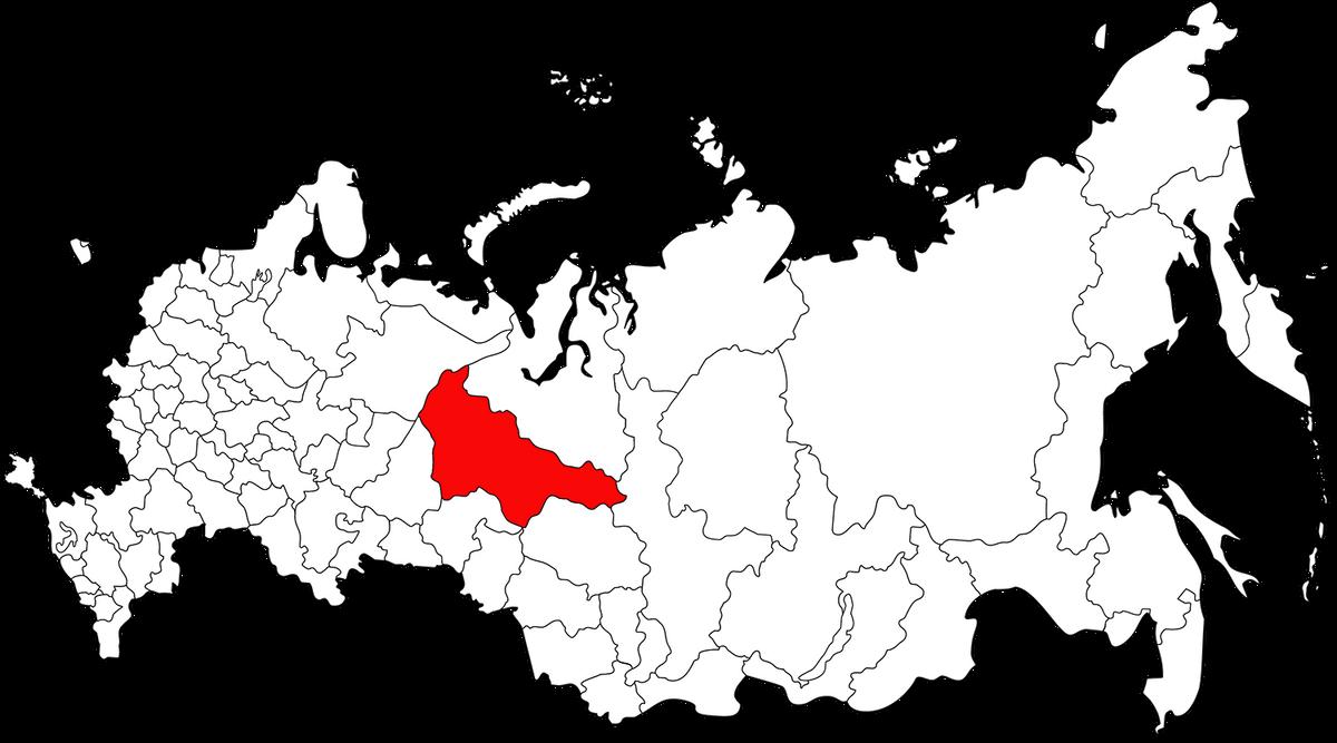 Ханты-Мансийский округ находится примерно в центре России